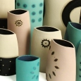 patterned vases